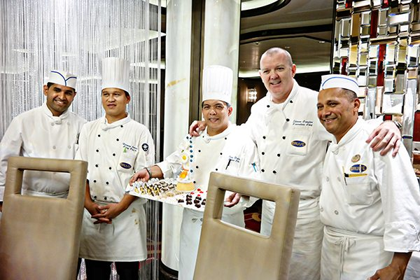 Chefs from the Regal Princess Chef's Table Lumiere