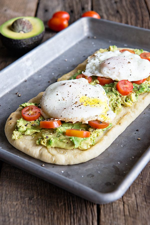California Avocado and Egg Flatbread Recipe on dineanddish.net