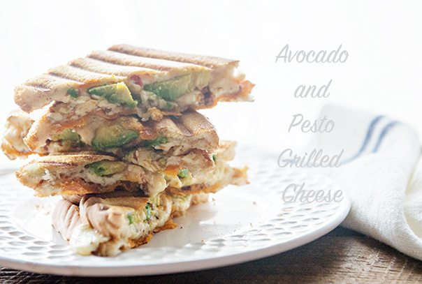 Avocado and Pesto Grilled Cheese from dineanddish.net