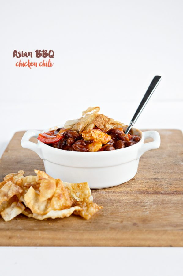 Asian BBQ Chicken Chili Recipe from dineanddish.net