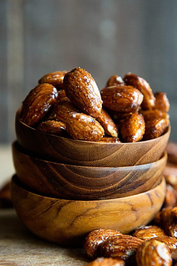 Honey Glazed Almonds Recipe on dineanddish.net