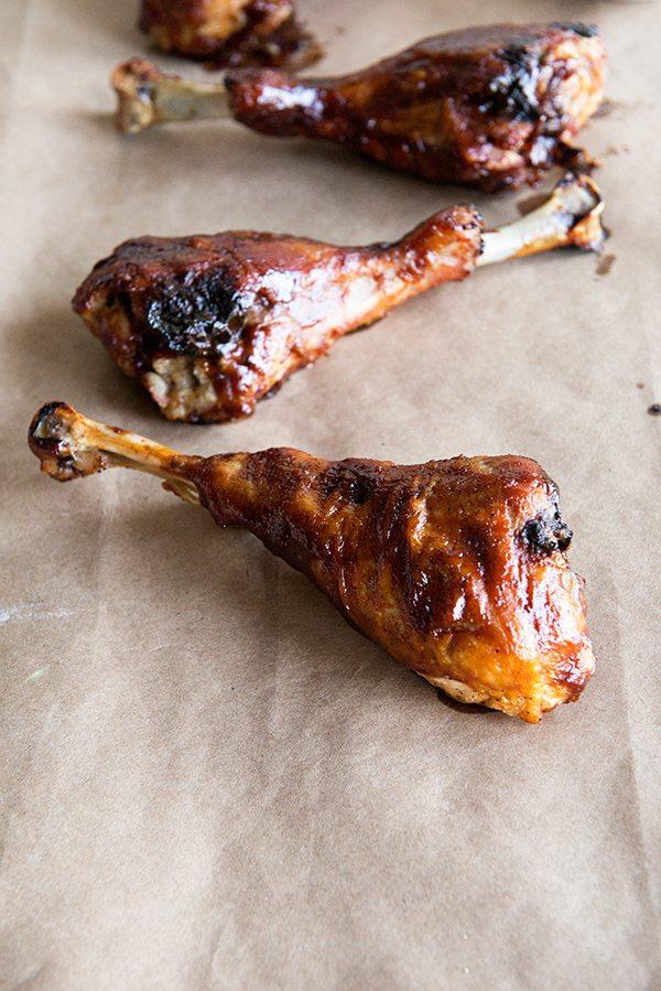 Grilled BBQ Turkey Legs recipe