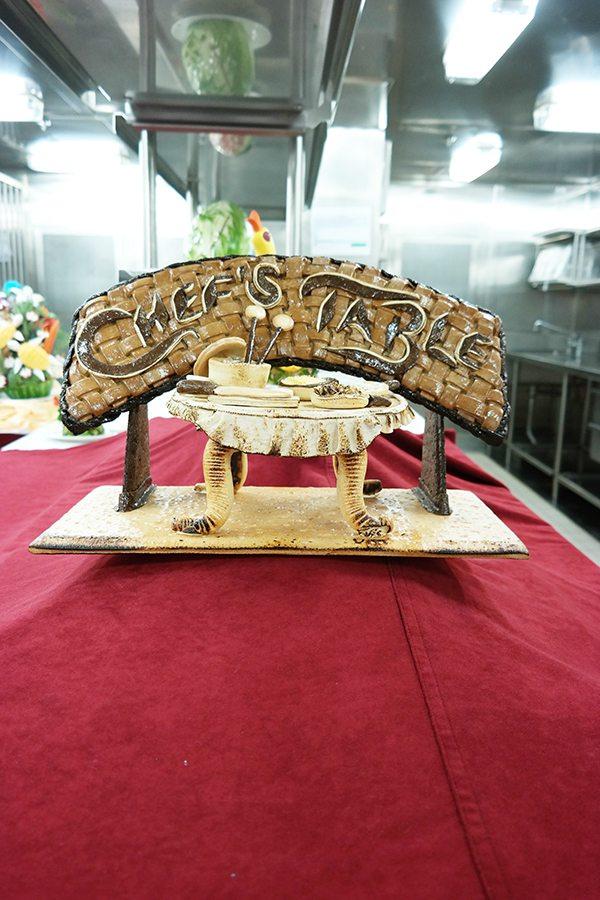 Ruby Princess Chef's Table Display