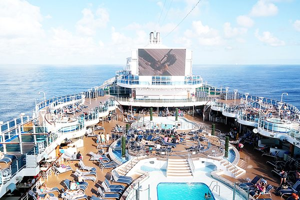 movie screen on a princess cruise
