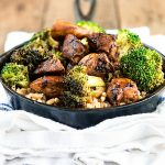Balsamic Chicken and Broccoli over Farro from dineanddish.net