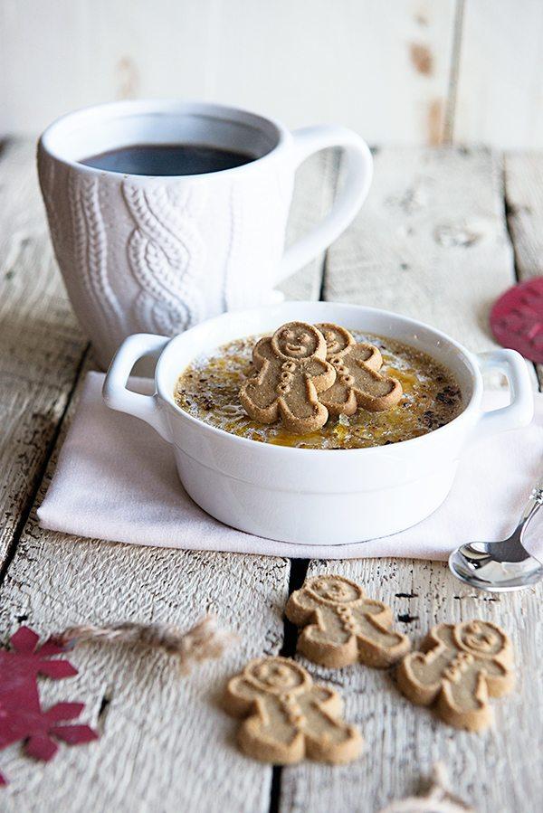 Eggnog Custard Oatmeal Brulee Recipe from dineanddish.net