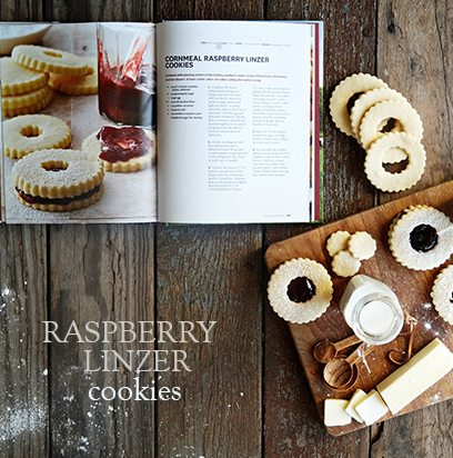 Raspberry Linzer Cookies on dineanddish.net
