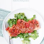 A Simple Salmon Recipe baked in foil packets for a great dinner, fast. From dineanddish.net