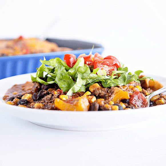 Enchilada Casserole Recipe from dineanddish.net