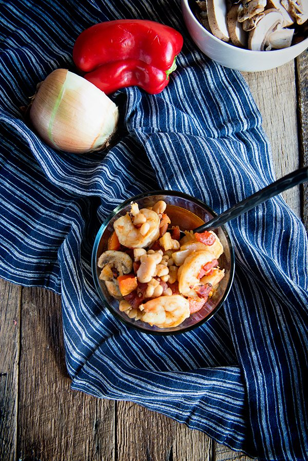 White Bean Shrimp Chili Recipe from dineanddish.net