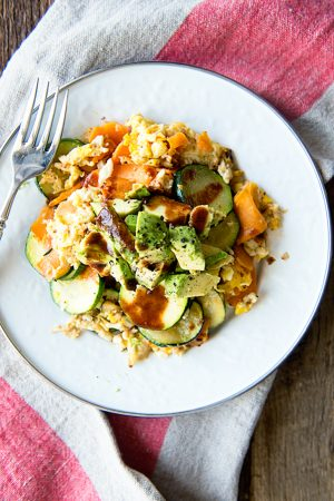 Whole 30 Avocado Sweet Potato Hash Recipe from dineanddish.net