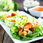 Buffalo Chicken and Beans Lettuce Wraps Recipe from dineanddish.net