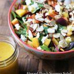 Almond Peach Summer Salad with Peach Vinaigrette Recipe