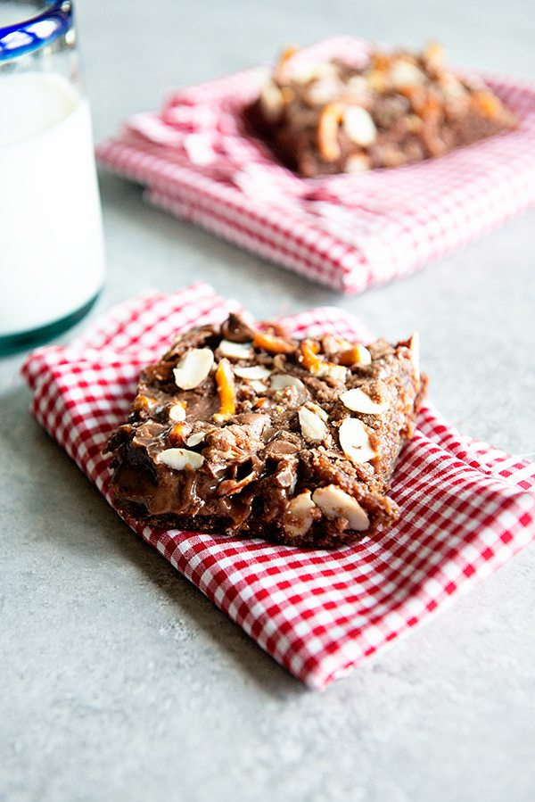 Chocolate Almond Picnic Bars Recipe from dineanddish.net