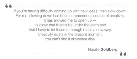 Natalie Goldberg Slow Blogging Movement