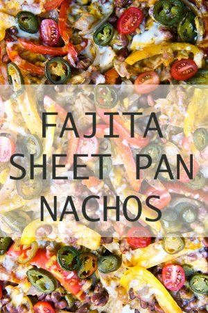 Veggie Fajita Sheet Pan Nachos Recipe from dineanddish.net