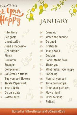 365 Days to Rock Your Happy January Prompts