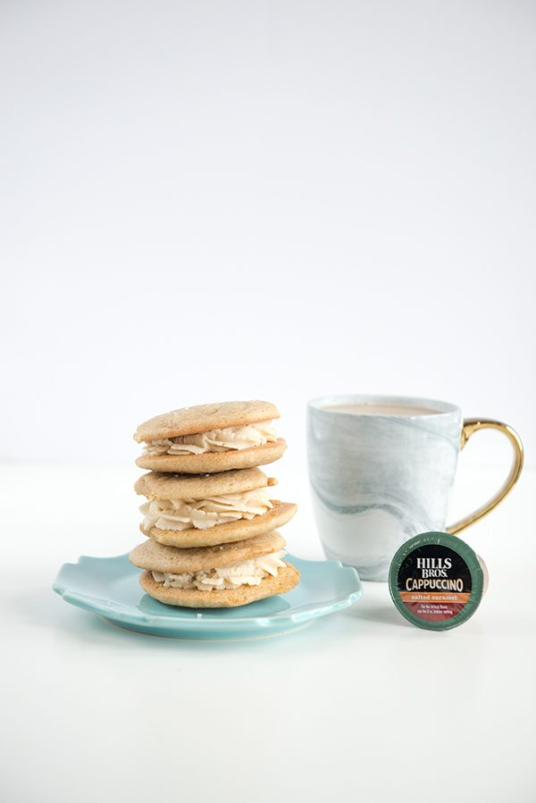 Salted Caramel Cappuccino Cookies Recipe from dineanddish.net