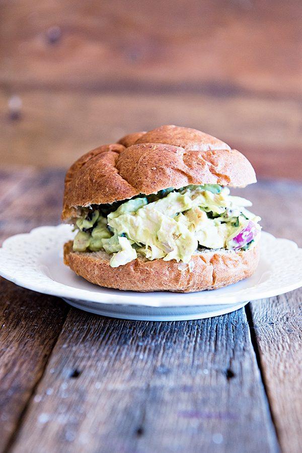 California Avocado Chicken Salad Sandwich Recipe from dineanddish.net
