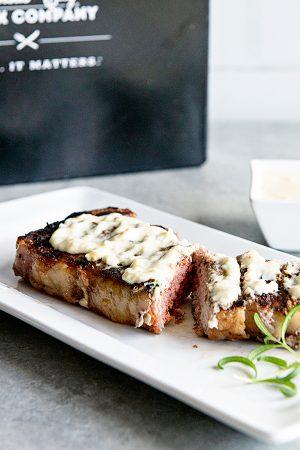 Strip Steak with Rosemary Cream Sauce Recipe