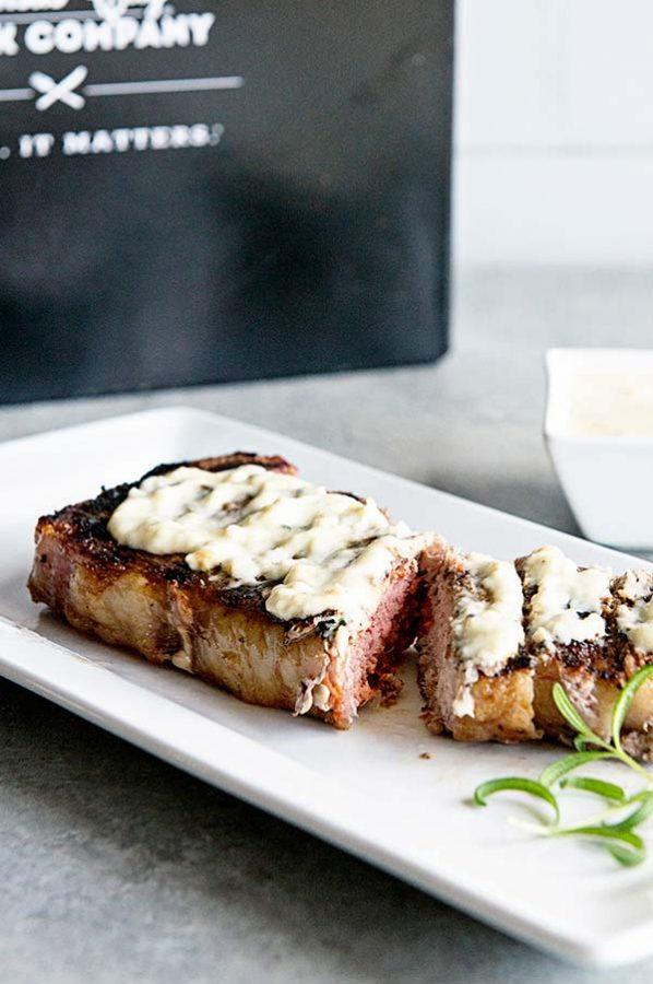 Strip Steak with Rosemary Cream Sauce Recipe