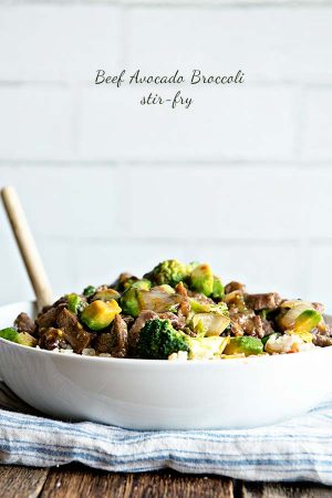 Beef Avocado and Broccoli Stir Fry Recipe
