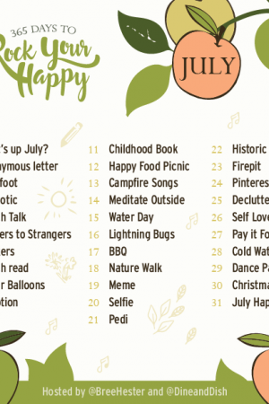 July 2017 Rock Your Happy Prompts