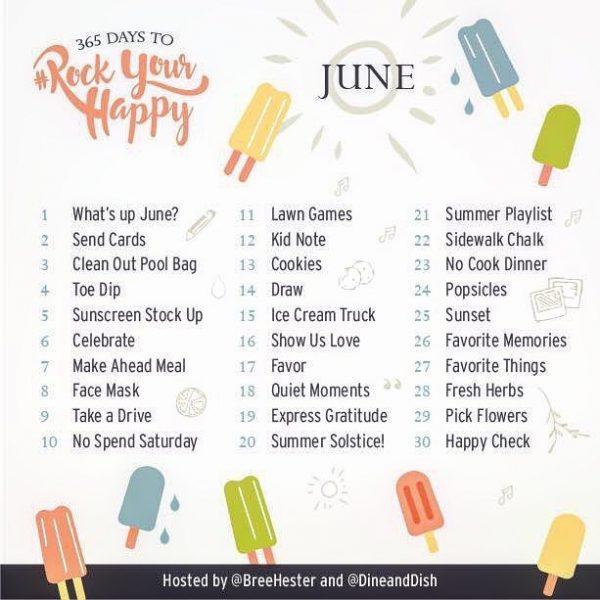 June 2017 Rock Your Happy Prompts