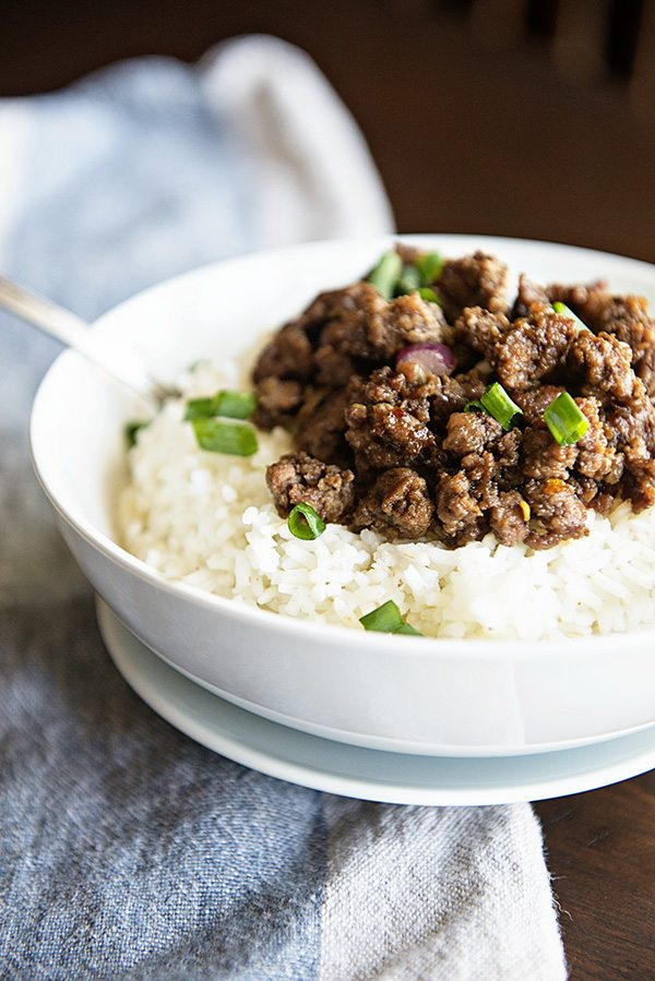 Budget Friendly Korean Beef and Rice Recipe on dineanddish.net