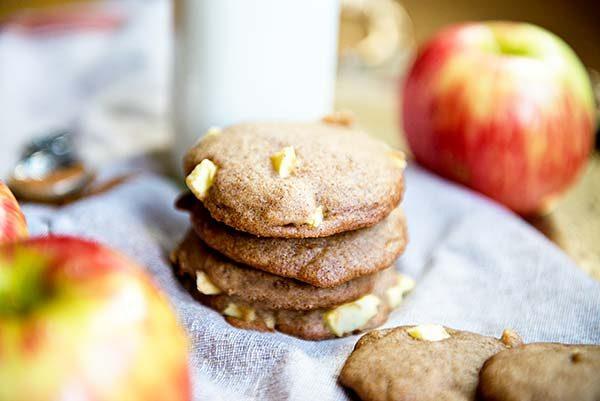 Apple Cinnamon Cookies recipe from dineanddish.net