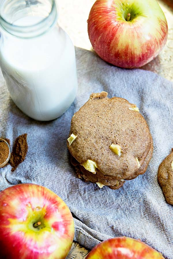 These Apple Cinnamon Cookies are the perfect soft and tender fall flavored cookie! Recipe from dineanddish.net