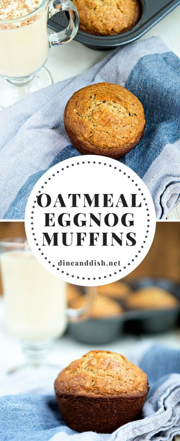 This Oatmeal Eggnog Muffins recipe is sure to get you in a festive mood! Great use for leftover eggnog.