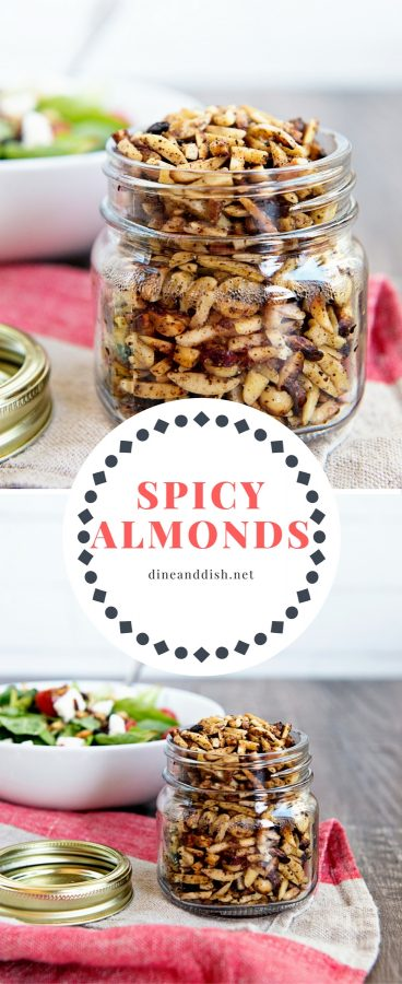 These spicy almonds make great salad toppers or package them up as a gift! Either way, you'll want this recipe from www.dineanddish.net