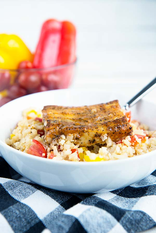 Cajun Cauliflower Rice Bowl Recipe