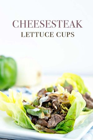 Cheesesteak Lettuce Cups are a great low carb alternative to a cheesesteak sandwich!