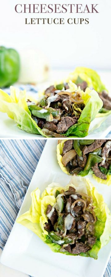 Cheesesteak Lettuce Cups are a easy low carb dinner idea featuring Certified Angus Beef. Find the recipe on dineanddish.net