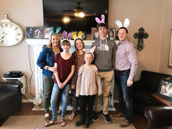 Kristen Doyle and Family from dineanddish.net at Easter