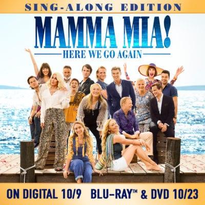 Mamma Mia 2 Here We Go Again graphic