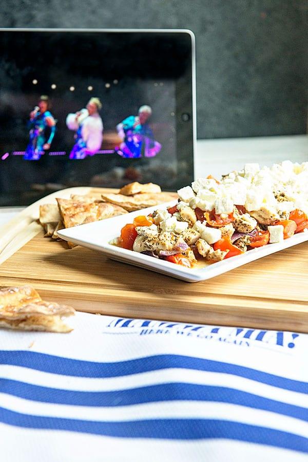 Greek Feta Chicken Appetizer on dineanddish.net