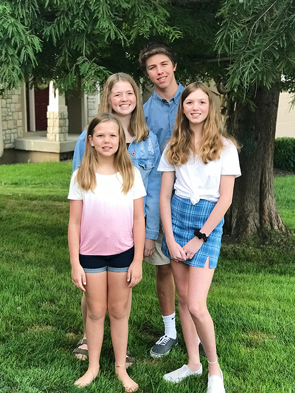 A photo of Jacob Doyle, Kelly Doyle, Ella Doyle and Leah Doyle