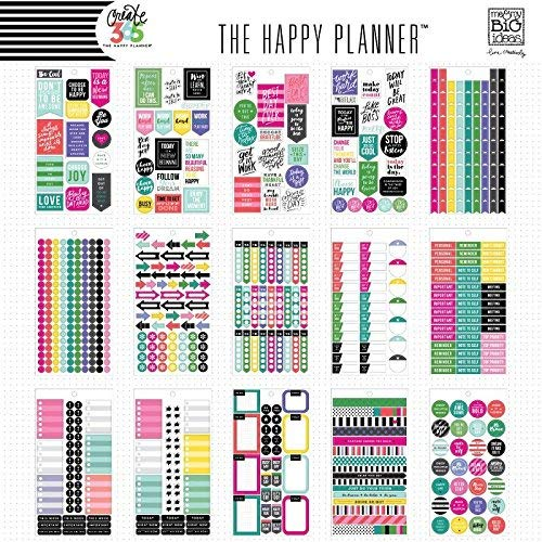 selection of happy planner productivity bullet journal stickers