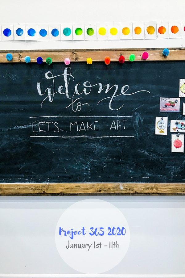 Let's Mark Art in Hamilton, MO interior chalkboard