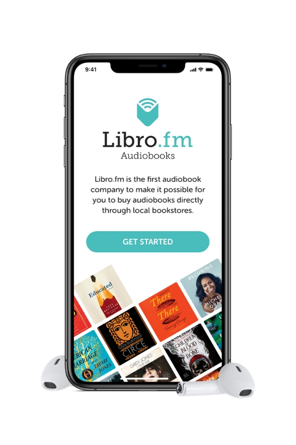 picture of Libro.fm's homepage