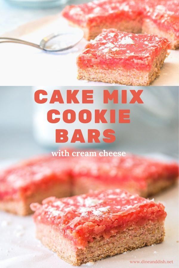Cake Mix Bar Cookies with Cream Cheese Recipe